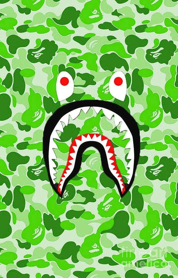 Bape Shark Green Wallpaper Bape Wallpaper Iphone Bape Shark Wallpaper Bape Wallpapers