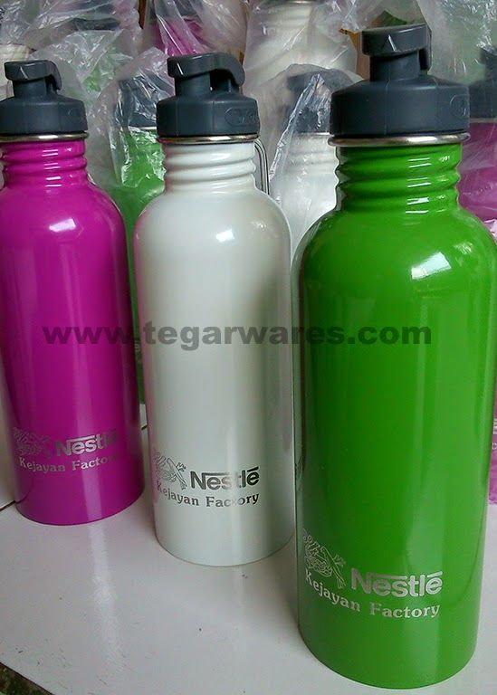 Fresco stainless drinking bottle stainless Fresco type for exclusive merchandise company Nestle milk factory Indonesia