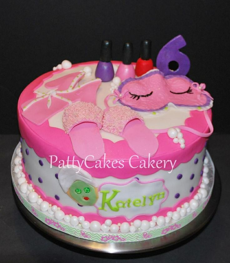 Best Cosmeticos Images On Pinterest Spa Cake Spa Birthday - Spa birthday party cake