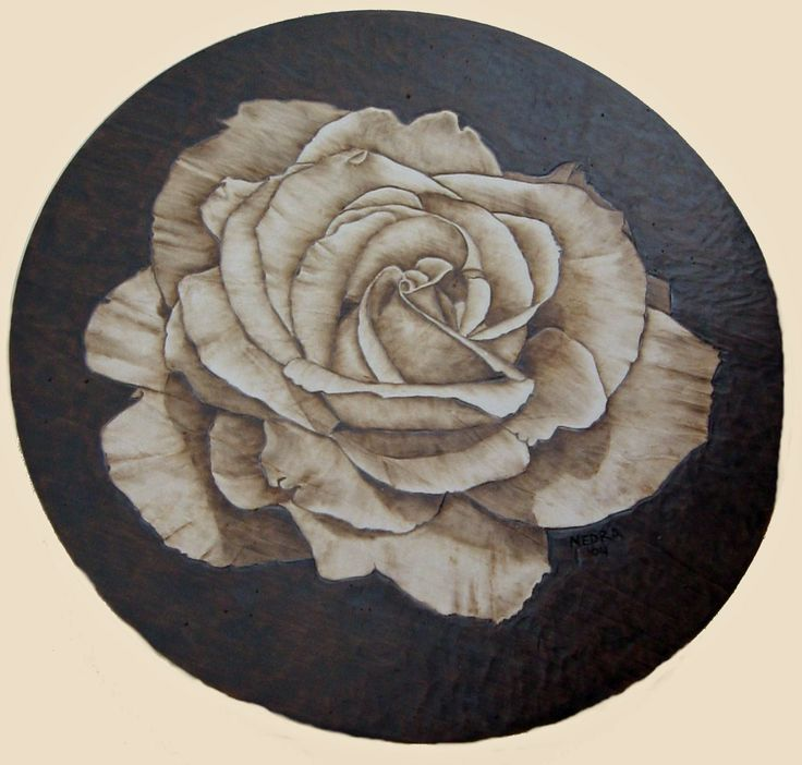 Images about pyrography floral landscape on