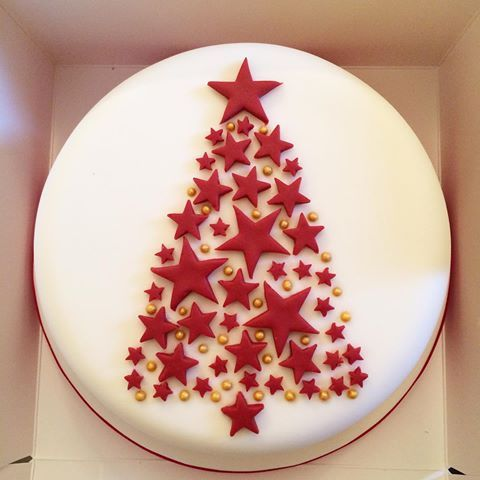 Christmas Cake Decoration With Stars : Best 25+ Christmas cake designs ideas on Pinterest ...