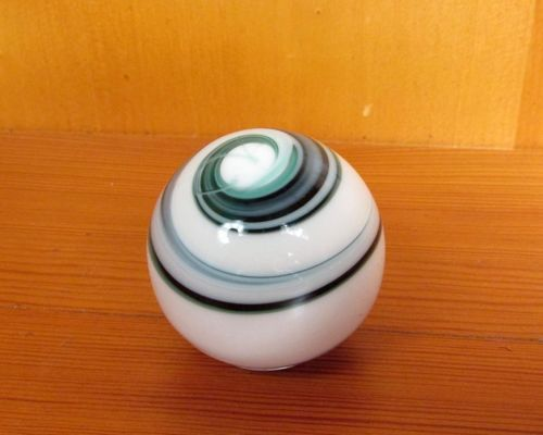 vintage marble agate slag art swirl glass gear shift knob