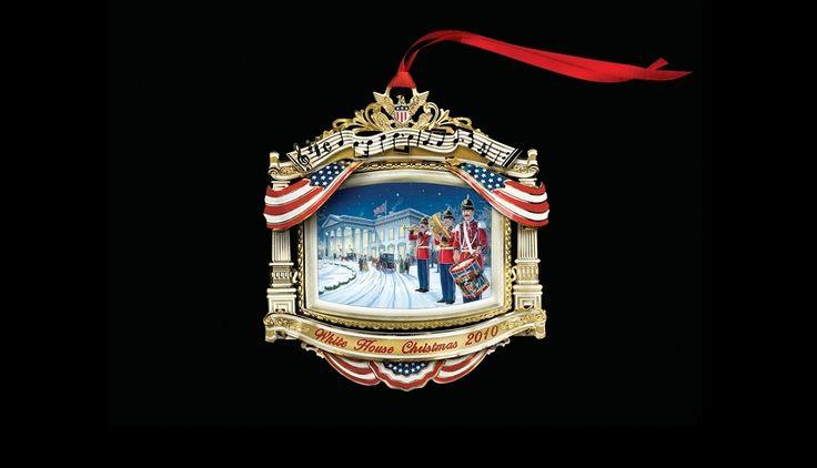White House Christmas Ornament: 2010
