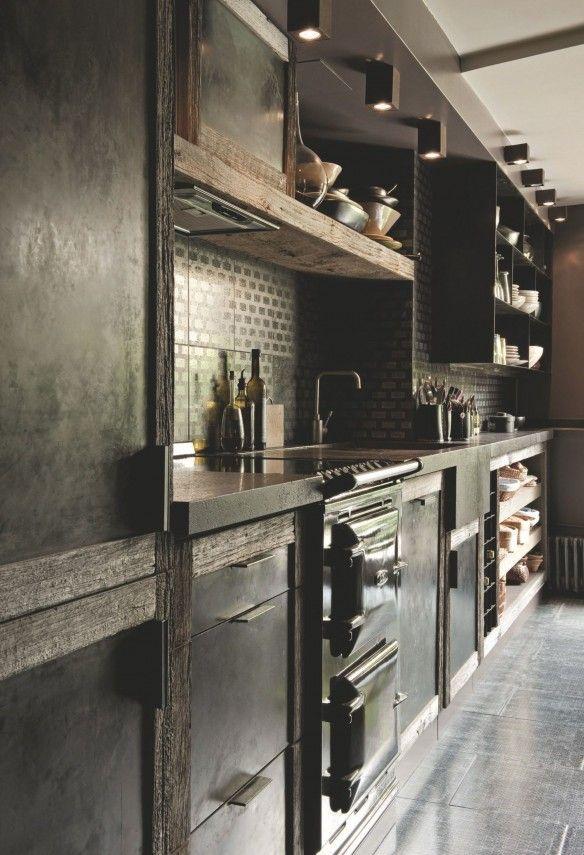 84 best Cuisine noire et bois images on Pinterest | Kitchen ideas ...