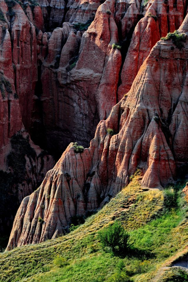 "Romania. ""Râpa Roşie"", the red cliffs of Transylvania."