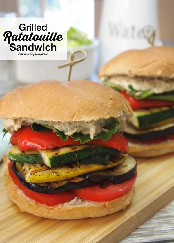 Grilled Ratatouille Sandwich     Dianne's Vegan Kitchen     V