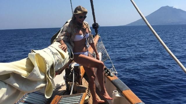 Christie Brinkley, 61, stuns in a bikini.