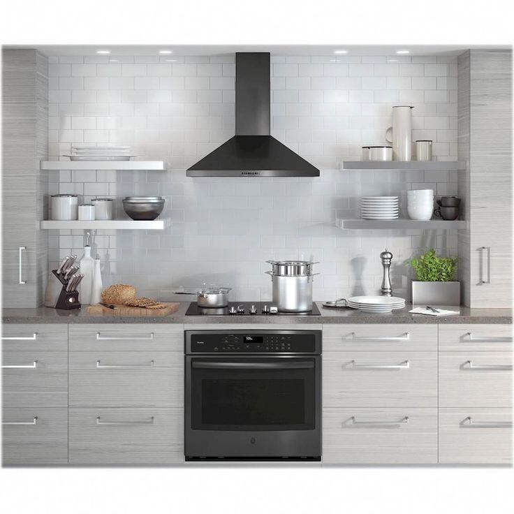 Ge 30 Convertible Range Hood Black Stainless Steel Kitchenbacksplash In 2020 Kitchen Backsplash Trends Kitchen Remodel Cottage Kitchen Design