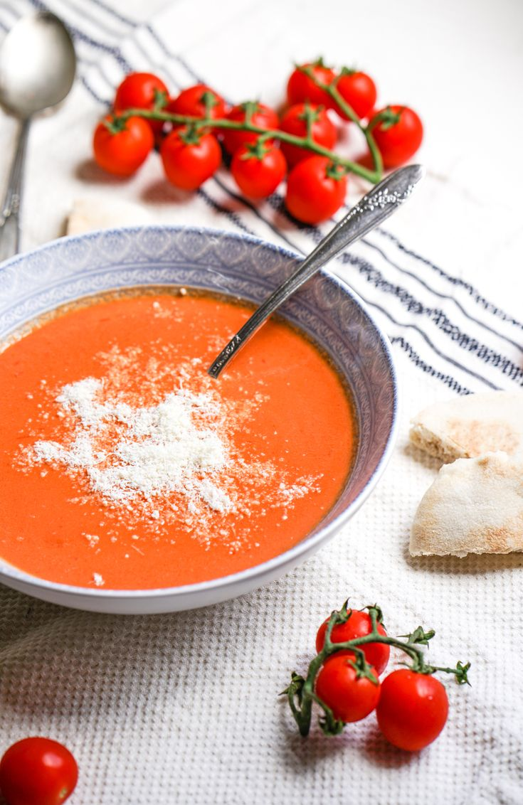 Tomato and Parmesan Soup #healthy #wholefoods