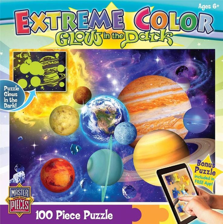 Solar System Glow in the Dark Children Jigsaw Puzzle - 100 pc - Age 6+ #Masterpieces