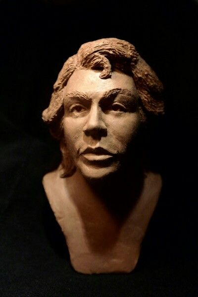 manosroussis.weebly.com #samaras #haircut #2015 #sculpture #bust #brown #male #manos #Roussis #for #sale #fantastic #black