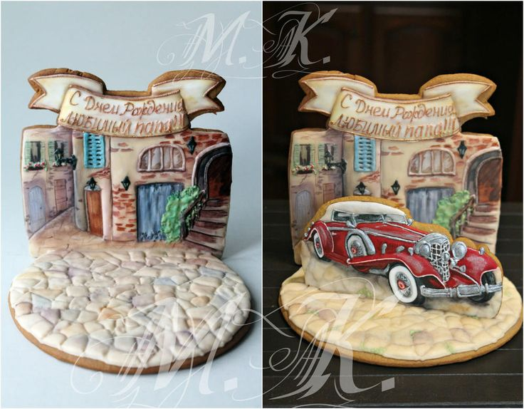 For your beloved dad !!! Cookie art by Mila Krylova. A Duesenberg for D.