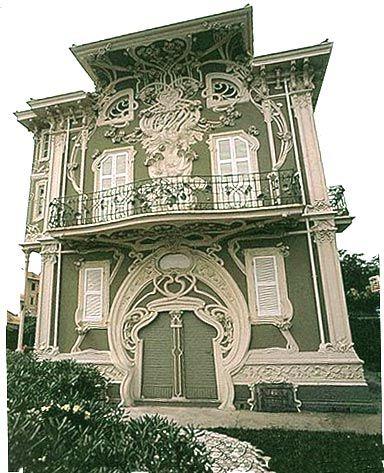 Art Nouveau and Art Deco, Villa Ruggeri in Pesaro, Italy. By Giuseppe...