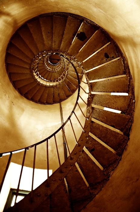 See - Spiral stairway inside Ke Ga lighthouse, Phan Thiet, Vietnam