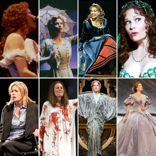 Marin Mazzie: Clara-Passion, Mother-Ragtime, Lili Vanessi / Katharine-Kiss Me, Kate, The Lady of the Lake-Spamalot, Diana Goodman-Next to Normal, Margaret White-Carrie, Helen Sinclair-Bullets Over Broadway, Anna Leonowens-The King and I