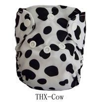 "THX Newborn Charcoal All-In-One ""Cow Spots"""