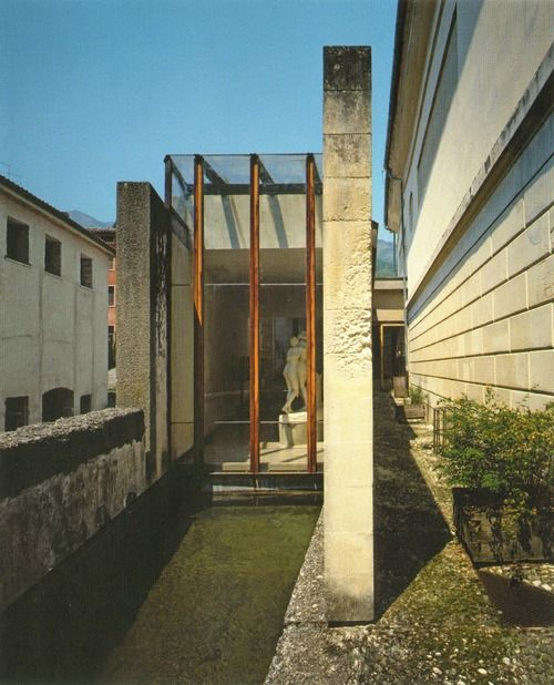 Expansion of the Canova Plaster Cast Gallery. Possagno, Treviso, Italy. 1957. Carlo Scarpa