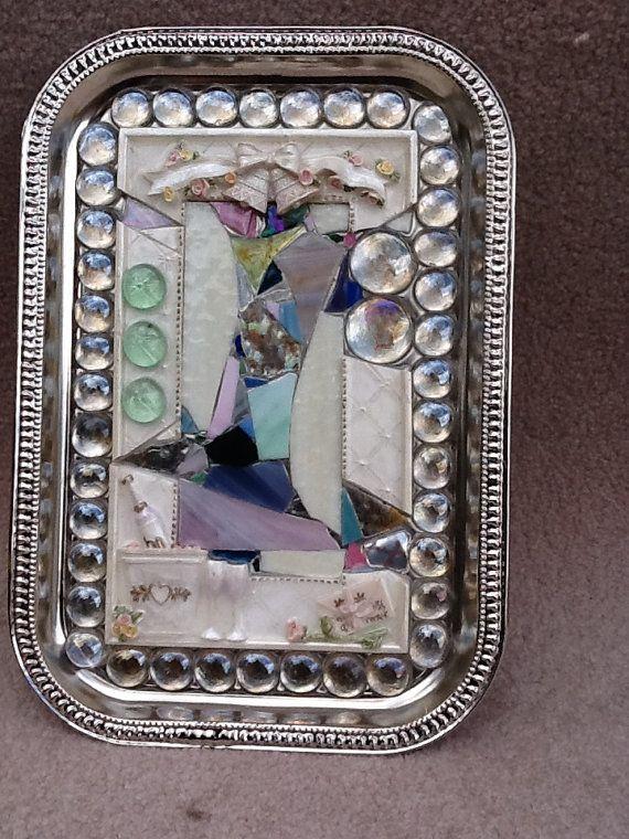 Mosaic Wedding Tray OOAK Bridal Gift Bridal by MountainMosaicsmore