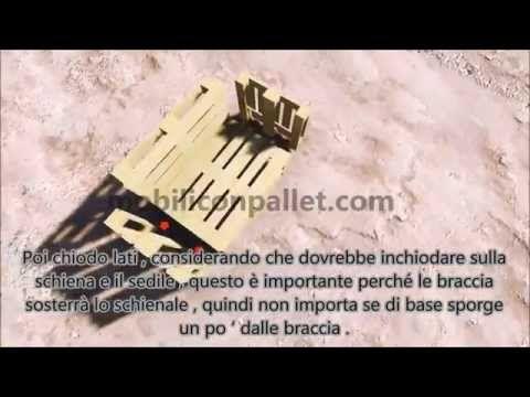Istruzioni passo passo e piani su come realizzare un divano con pallet facilmenteMobili con Pallet | Mobili con Pallet