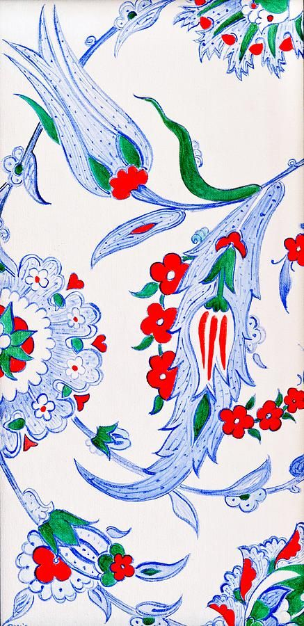 Blue Tulip Painting