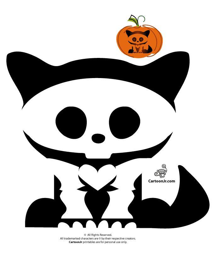 Skelanimals Pumpkin Templates Skelanimals Kitty Pumpkin – Cartoon Jr.