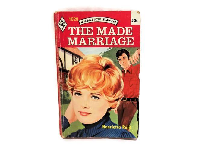 Vintage Harlequin Romance Novel/ The Made Marriage by Henrietta Reid/ Retro 1970s Cover Art/ Vintage Bookshelf Decor/ Irish Romance/ Fiction by KMVintageTreasures on Etsy