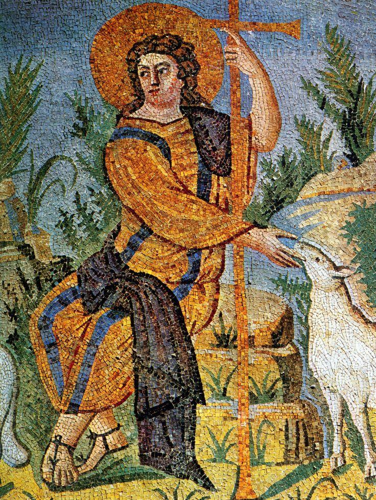 Buon Pastore, mosaico, intorno a metà del V secolo, Mausoleo di Galla Placidia, Ravenna