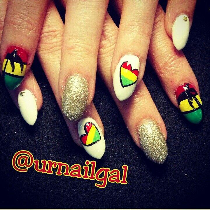 9 best rasta nails images on Pinterest | Rasta nails, Fingernail ...