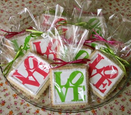 Edible Ink Images – Decorated Love Cookies
