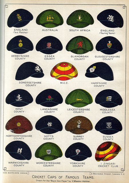 Cricket caps of famous teams, THE CARY COLLECTION