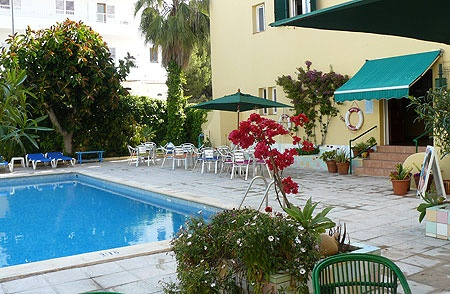Hostal Valencia....a tranquil place to stay in the busy hub of San Antonio, Ibiza.