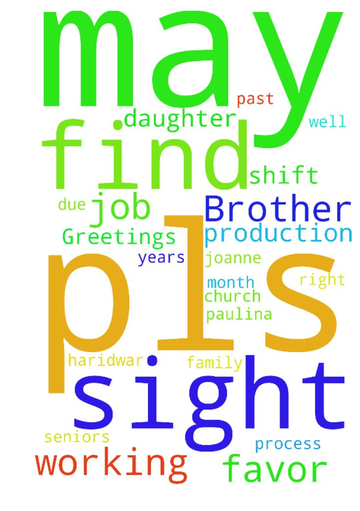 Dear Brother in Christ,Greetings to - Dear Brother in Christ, Greetings to you in the name of our Lord amp; Saviour Jesus Christ. Pls pray for my daughter Joanne Arul as she has started working for a call centre she is unable to attend church due to her shifts may she be convicted to ask for a shift or get a new job where that process will have sat Sunday off. Please also pray for my wife Paulina job as she is working in a school she is facing pressure amp; insult Fromm her seniors may she…