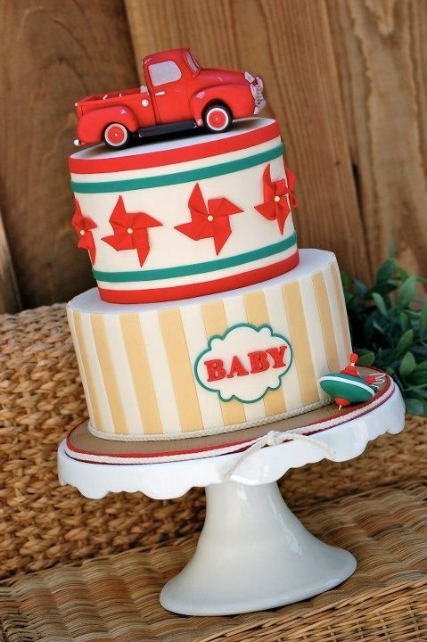 Royal Bakery: Baby Shower Cakes, Gorgeous Cakes, Bakeries, Pinwheels, Trucks Cakes, Baby Boys Cakes, Baby Boys Shower, Baby Cakes, Baby Shower