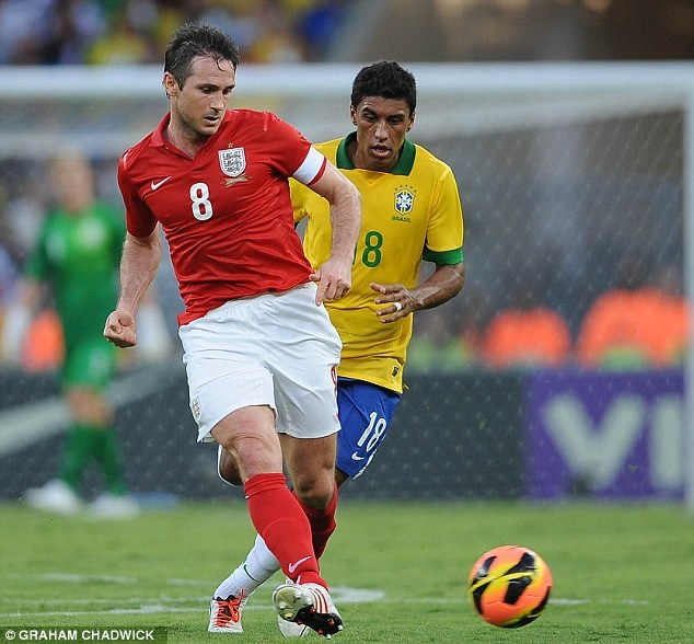 ~ Frank Lampard of the England National Team against the Brazil National Team ~
