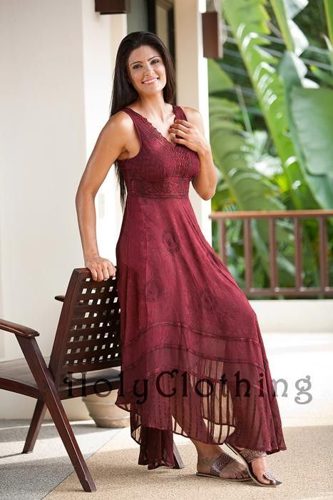 Shop Norma Jean Boho Maxi Sun Dress In Burgundy Wine: http://holyclothing.com/index.php/norma-jean-empire-waist-lace-floral-chiffon-boho-maxi-sun-dress.html From $57.99. Repins are always appreciated :) #holyclothing #fashion
