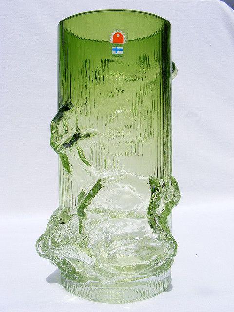 Oy Kumela 'Petäjä' glass vase by art-of-glass, via Flickr