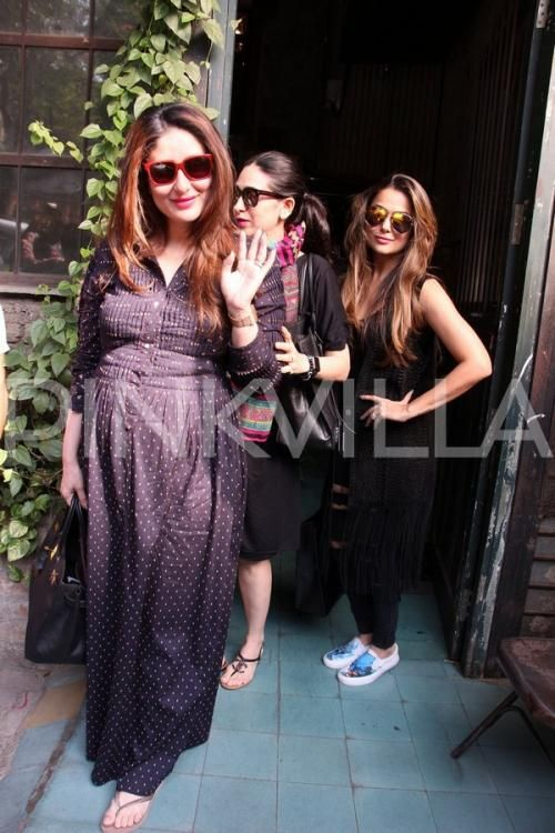 Maternity Style File: Kareena slays as she steps out with Karisma and Amrita! | PINKVILLA