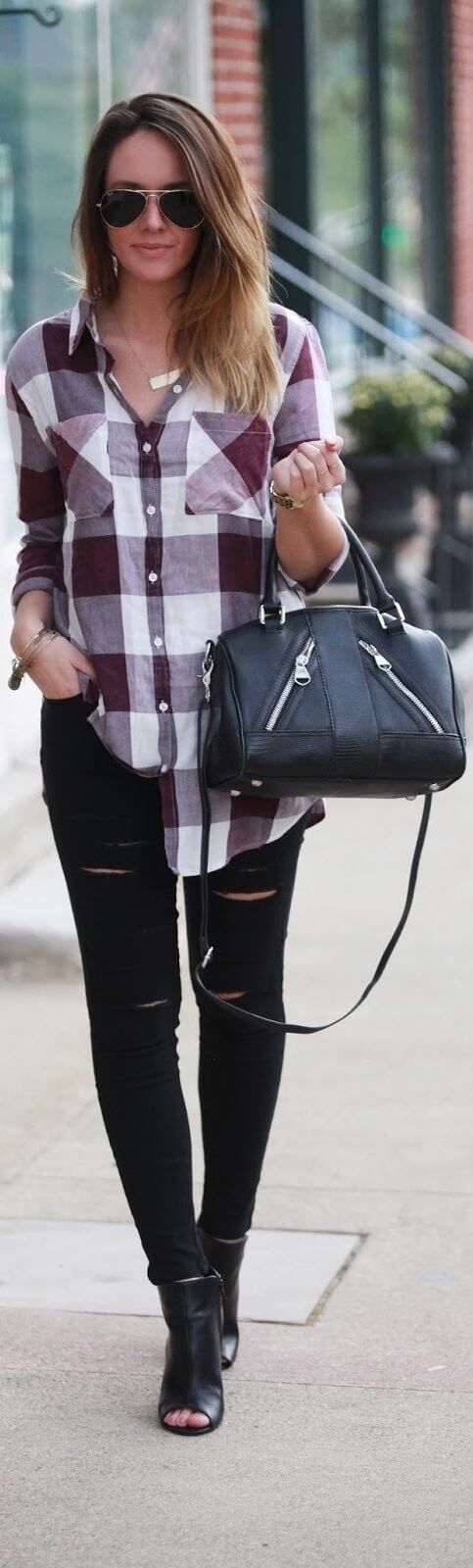 10 Cute Outfits with Plaid Shirts | Page 4 of 10