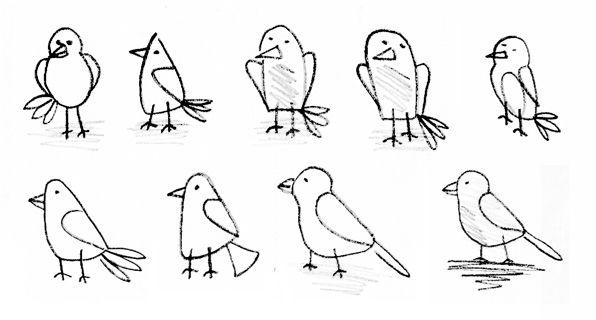 cute drawings of birds