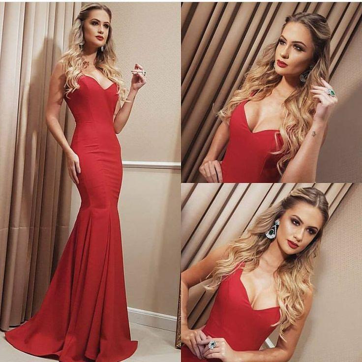 vestido madrinha ou formanda vermelho