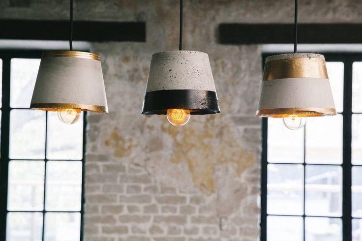 O.C. Lamps : Lighting by Beautiful set of three lamp shades, finding the balance between modern and rustic in the most stylish was possible. So cool. дизайн-студия промышленного дизайнера Анны Струпинской