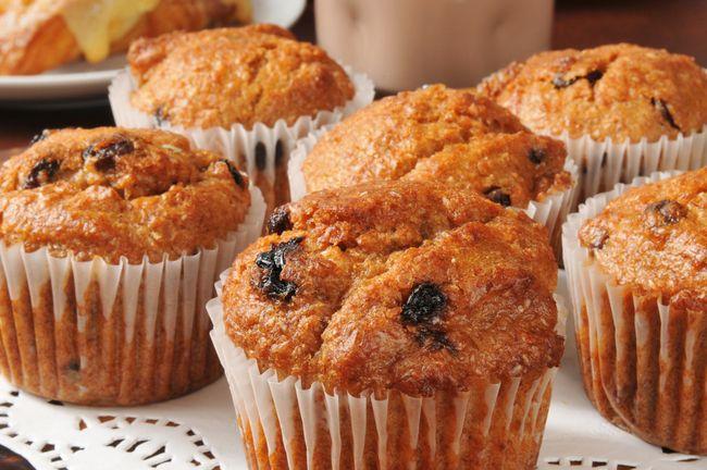 Healthy, egg-free banana muffins