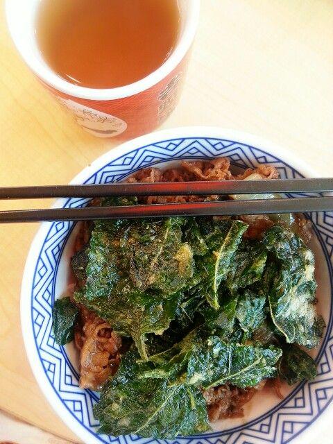 Beef Bowl w/ Crispy Spinach
