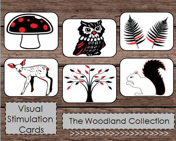 Black White Red High Contrast Baby Flash Cards ...