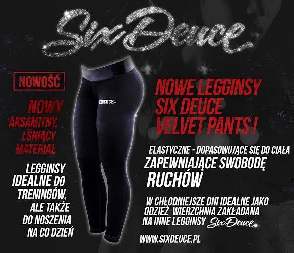 Nowość Od Six Deuce. Aksamitne, czarne legginsy Velvet Pants. Do zdobycia na www.sixdeuce.pl