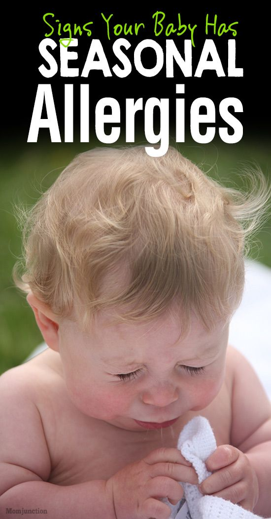 7 Signs Your Baby Has Seasonal Allergies Because It's ...