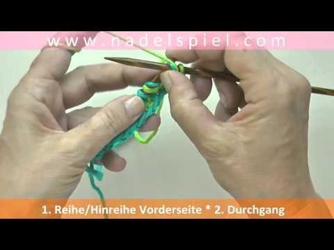 Stricken lernen mit eliZZZa #28 * Patentmuster zweifarbig * Vollpatent - YouTube