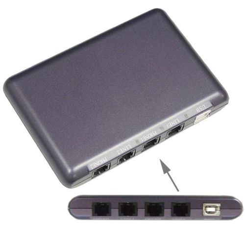 [USD23.53] [EUR22.19] [GBP17.15] USB Telephone Recorder (Dual recording:Supports 2 telephone recording)