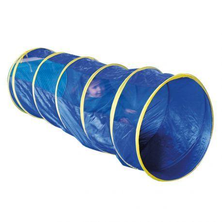 TUNNEL DE MOTRICITÉ OD267 Produit standard Les enfants l'adorent ! Idéal pour ramper, se cacher ou intégré à un parcours moteur, ce tunnel est un outil de motricité indispensable. Il peut être utilisé en milieu professionnel dans une approche rééducative ou à la maison en jeu libre. Facilement transportable dans un sac. Vendu à l'unité. 2 longueurs : 180 cm et 300 cm. Diam. 60 cm. Dès 2 ans.