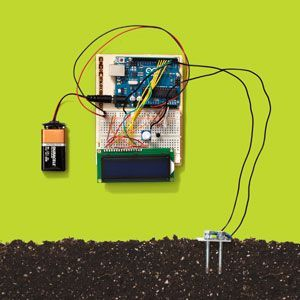 Always under-watering or over-watering your plants? Wire up this Arduino-based sensor and save them.